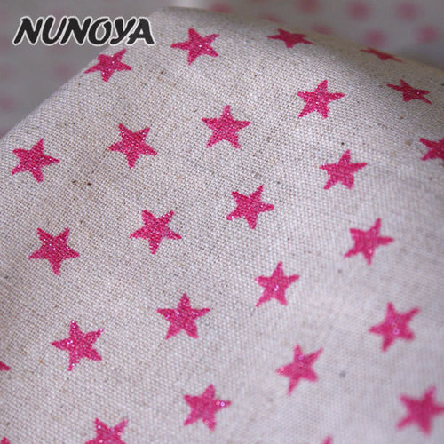 Pink glitter stars on natural