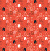 Little houses on red, from Jillian Phillips' Mori Girls
