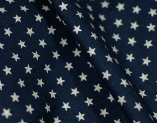 Glitter Silver Stars on navy blue
