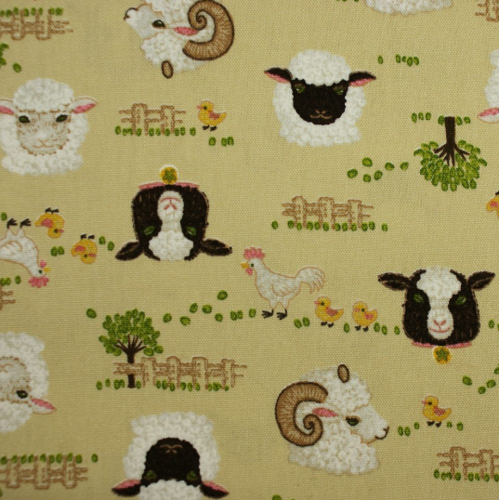 Sheep and rams on beige