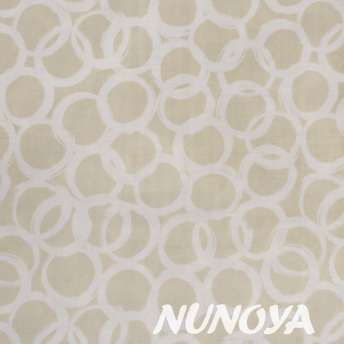Loops in taupe by Ellen Baker for Kokka - Cotton double gauze