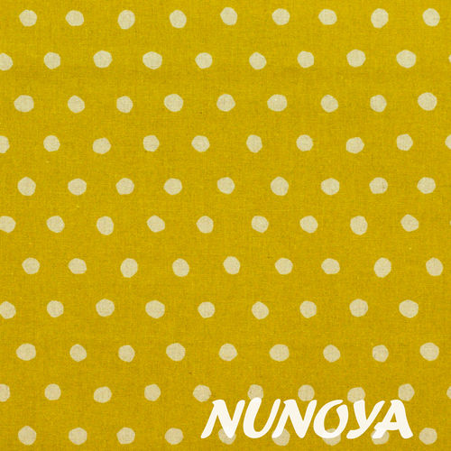 Dot - natural on yellow background - by Echino