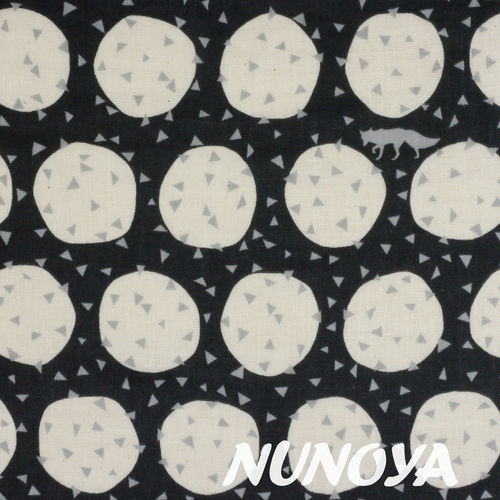 Den - black - by Echino - cotton double gauze
