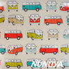 VW Camper - multicolour - Cotton + PVC coating