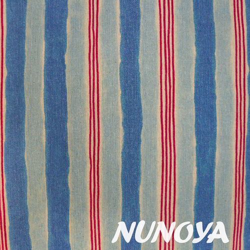 Stripes - blues and red - Cotton & Linen