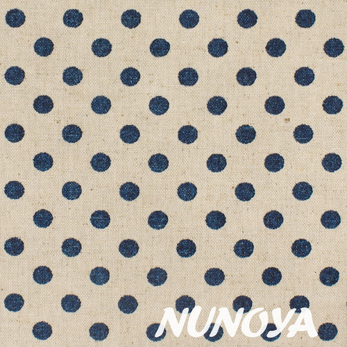 Glitter dark blue Dots on natural