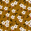 Spring - White flowers on brown - Rayon by Dashwood Studio