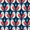 Scandinavias owl - Cotton fabric