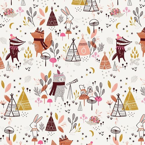 Big camping in the forest on white - Cotton