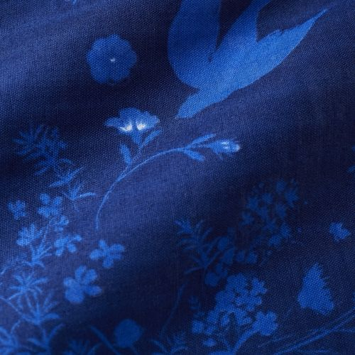 Jardin II - Night blue - Cotton double gauze