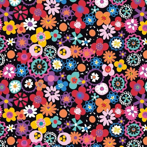Colorful Flowers - Cotton